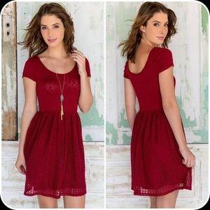 Francesca's Red Knit Dress